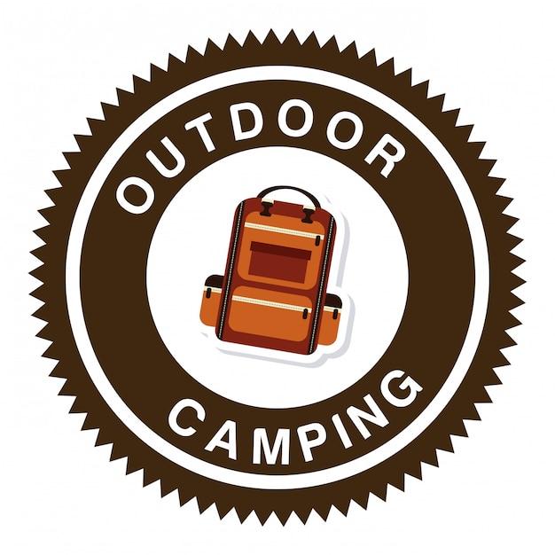 Camping en el bosque vector gratuito