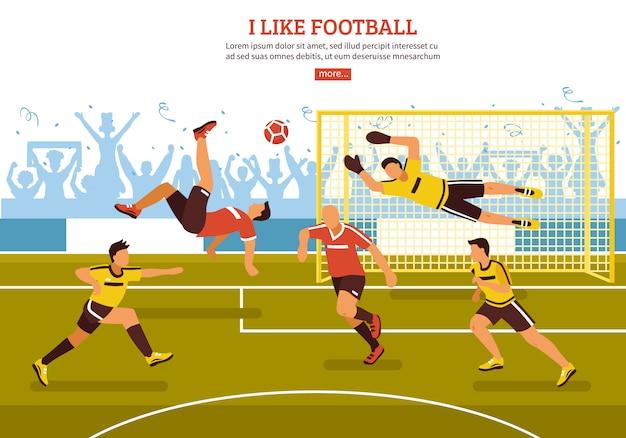 En el campo de fútbol vector gratuito