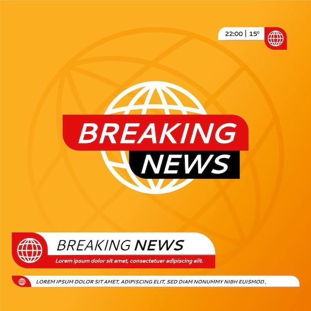 Canal ilustrado con noticias de última hora. Vector Premium