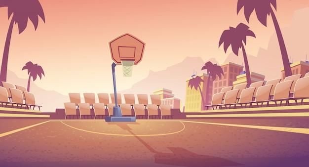 Cancha de baloncesto de la calle vector gratuito