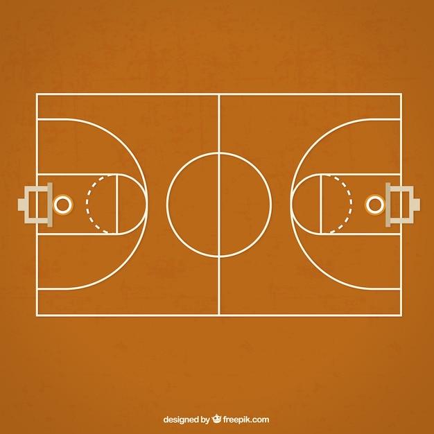 Cancha De Baloncesto Descargar Vectores Gratis