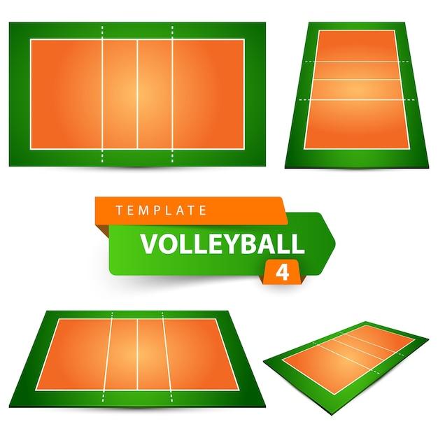 Cancha De Volleyball Descargar Vectores Premium