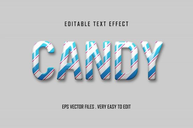 Candy - efecto de texto premium, texto editable Vector Premium