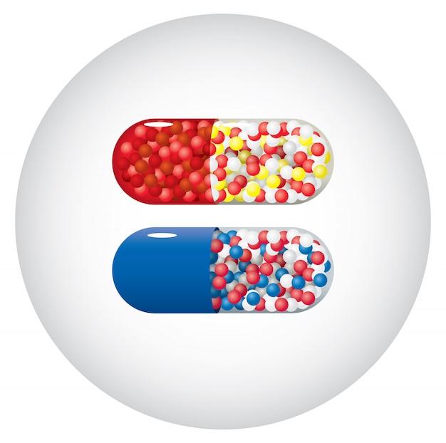 Cápsulas de medicina Vector Premium