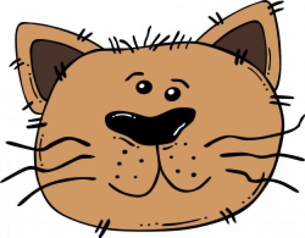Cara De Gato De Dibujos Animados Descargar Vectores Gratis
