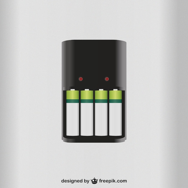 Cargador de baterías vector gratuito