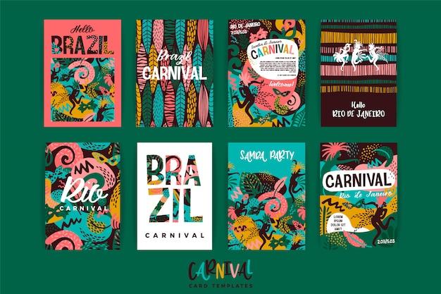 Carnaval de brasil Vector Premium