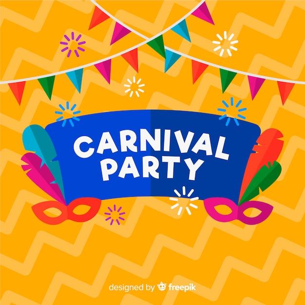 Carnaval de brasil vector gratuito