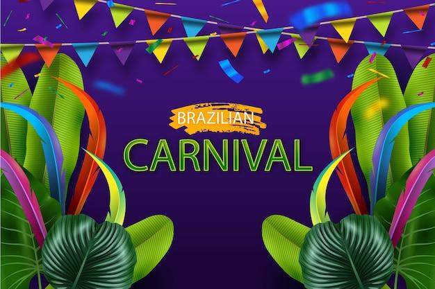 Carnaval brasileño realista vector gratuito