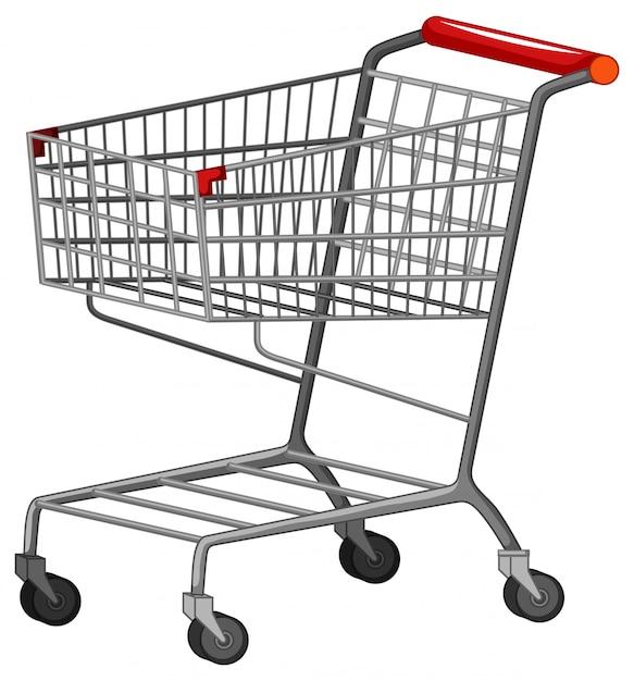 Un carrito de compras sobre fondo blanco. vector gratuito
