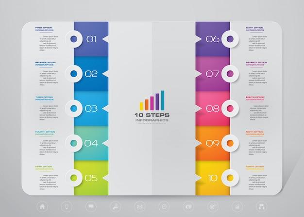Carta de presentación infográfica Vector Premium