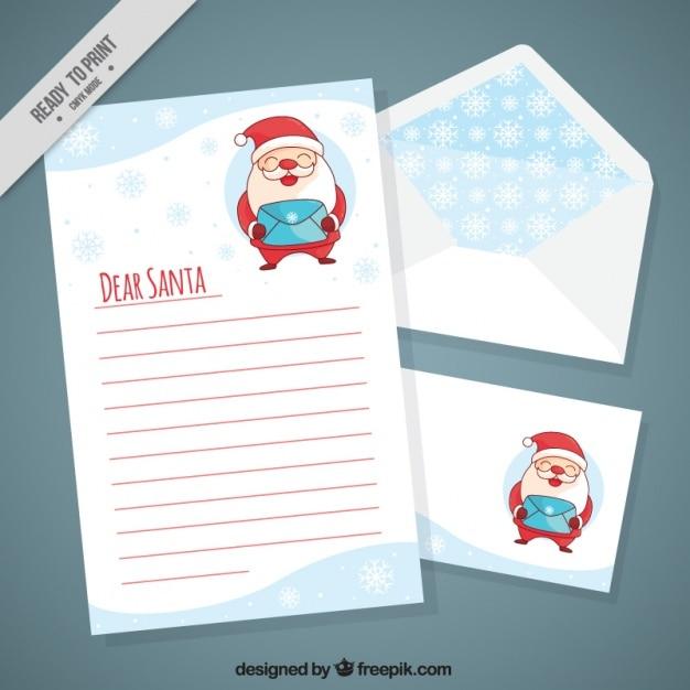 Fotos Simpaticas De Papa Noel.Carta De Simpatico Papa Noel Con Postal Y Sobre Descargar
