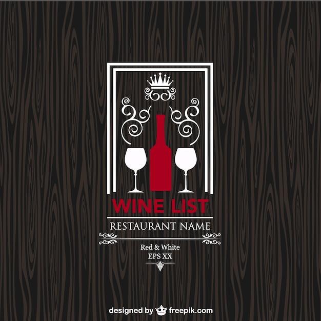Carta de vinos vintage vector gratuito
