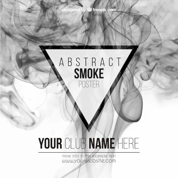 Cartel abstracto del humo vector gratuito
