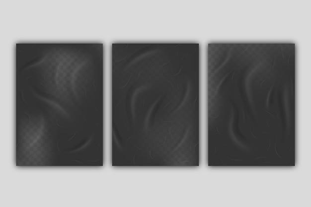 Cartel arrugado realista efecto mal pegado vector gratuito