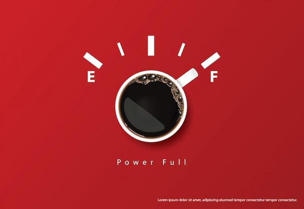 Cartel de café anuncio flayers ilustración vectorial Vector Premium
