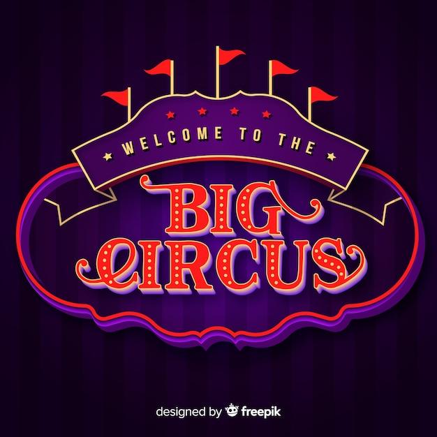 Cartel de circo con luces vector gratuito
