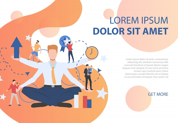 Cartel colorido que representa diferentes tipos de actividades. vector gratuito