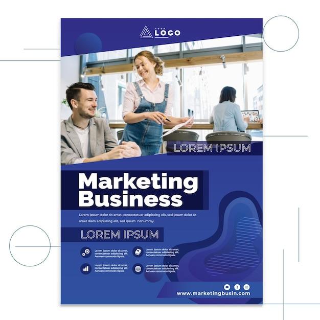 Cartel comercial de marketing vector gratuito