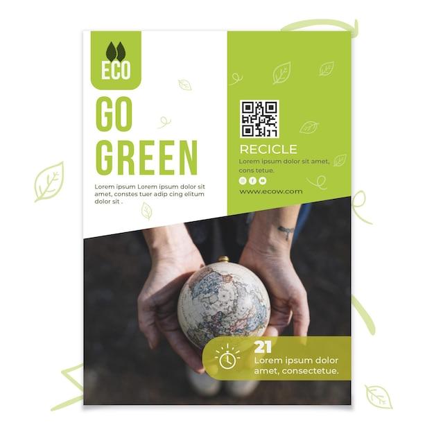 Cartel de conservación del medio ambiente vector gratuito