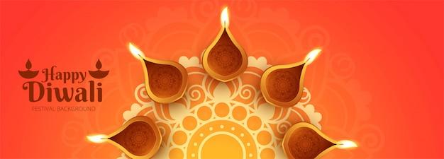 Cartel creativo o encabezado para shubh diwali vector gratuito