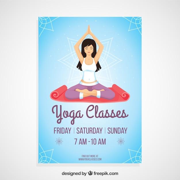 Cartel de clases de yoga | Descargar Vectores Premium