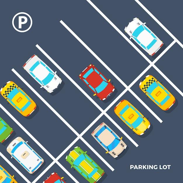 Cartel del estacionamiento vector gratuito