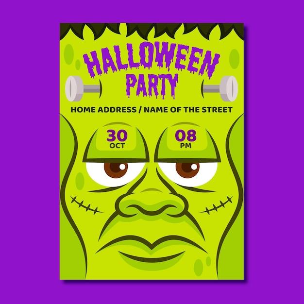 Cartel de fiesta de halloween vector gratuito