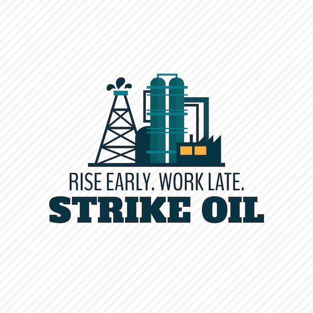 Cartel de la industria petrolera vector gratuito
