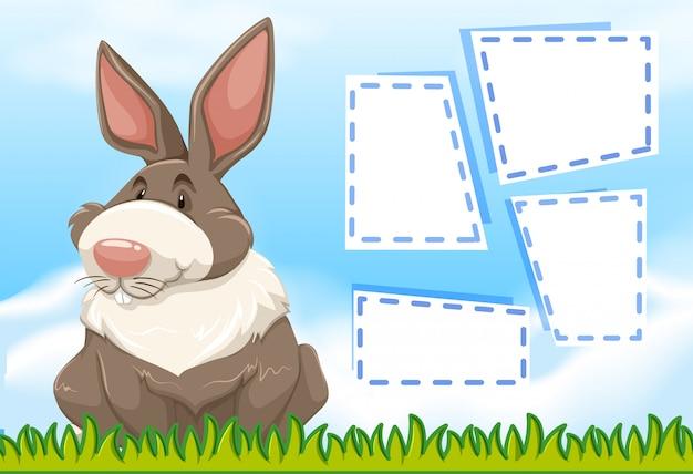 Cartel de marco animal con copyspace en blanco vector gratuito