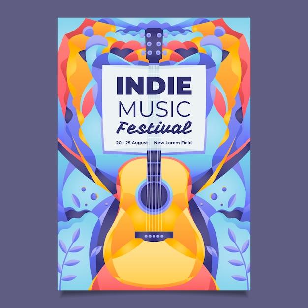 Cartel musical ilustrado vector gratuito