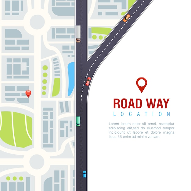 Cartel de navegación por carretera vector gratuito