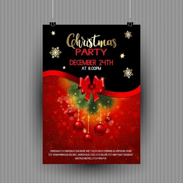 Cartel navide o con bolas de navidad rojas descargar - Bolas de navidad rojas ...