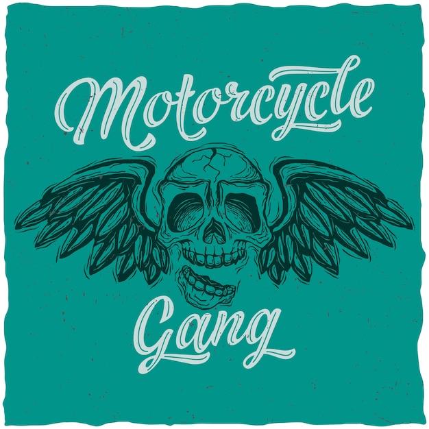 Cartel de pandillas de motociclistas vector gratuito