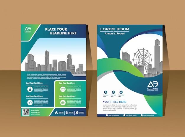 Cartel de portada de diseño Vector Premium