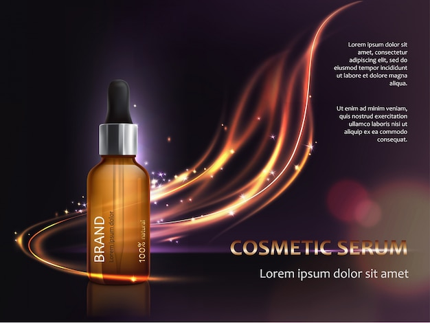Cartel para la promoción de cosméticos anti-envejecimiento producto premium vector gratuito