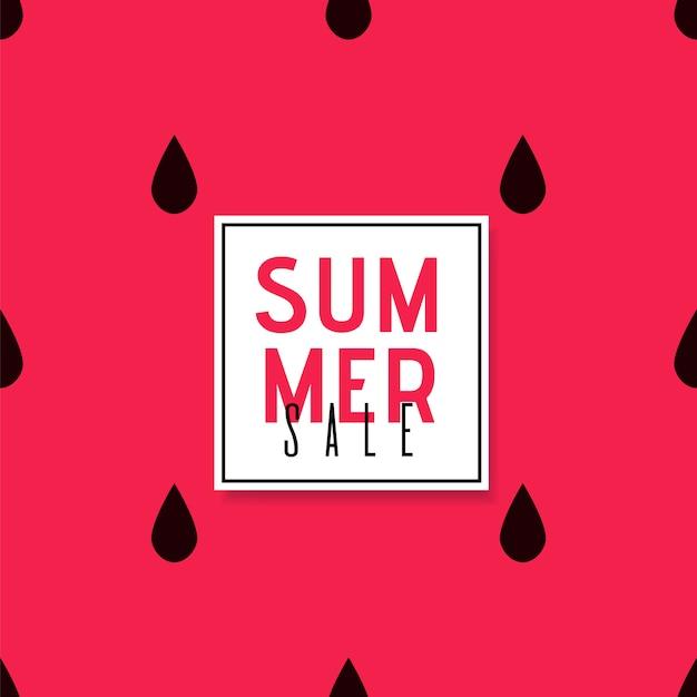 Cartel de promoción de ventas de verano sobre fondo brillante Vector Premium