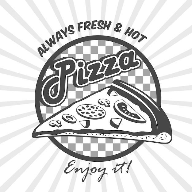 Cartel de publicidad de la rebanada de pizza vector gratuito