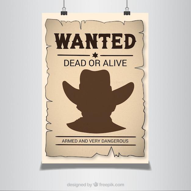 Cartel se busca en estilo western | Descargar Vectores gratis