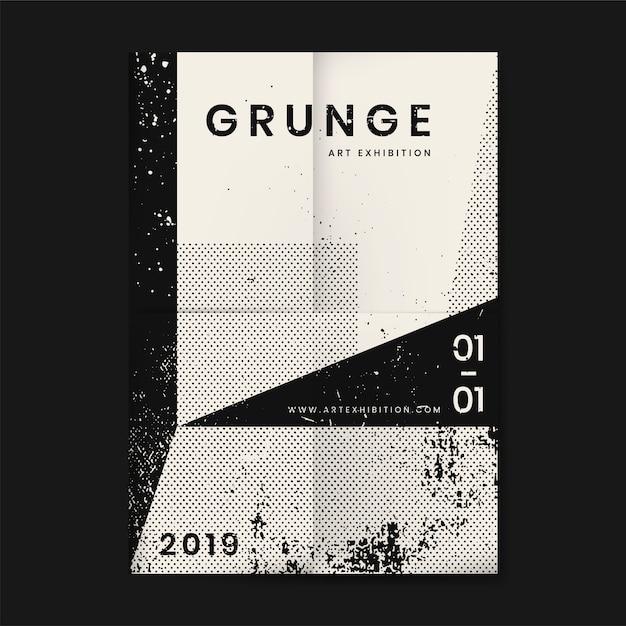 Cartel de textura angustiada grunge vector gratuito