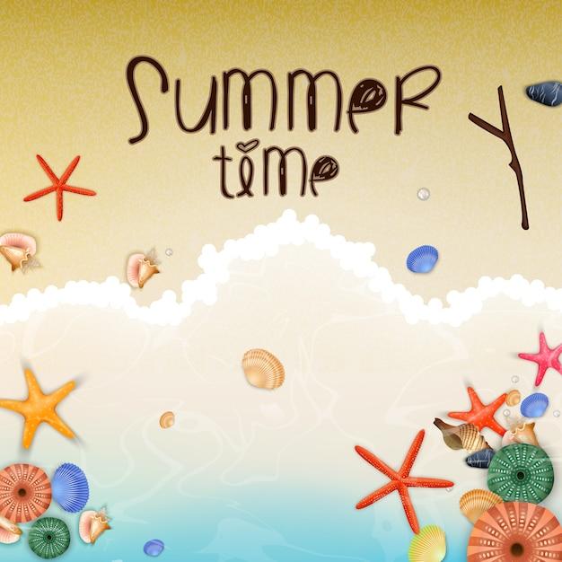 Cartel de vacaciones de verano Vector Premium