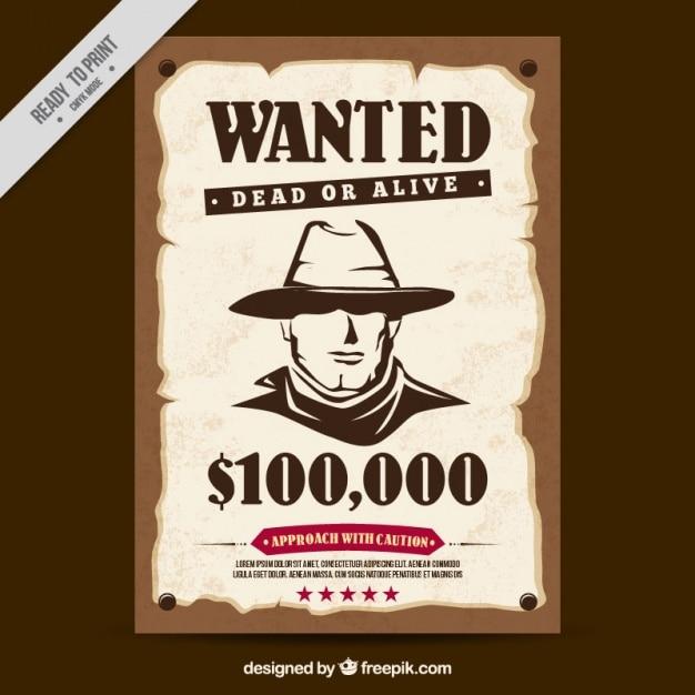 Cartel Western Se Busca Descargar Vectores Gratis