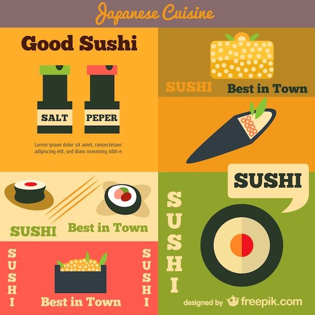 Carteles de cocina japonesa descargar vectores gratis - Carteles de cocina ...