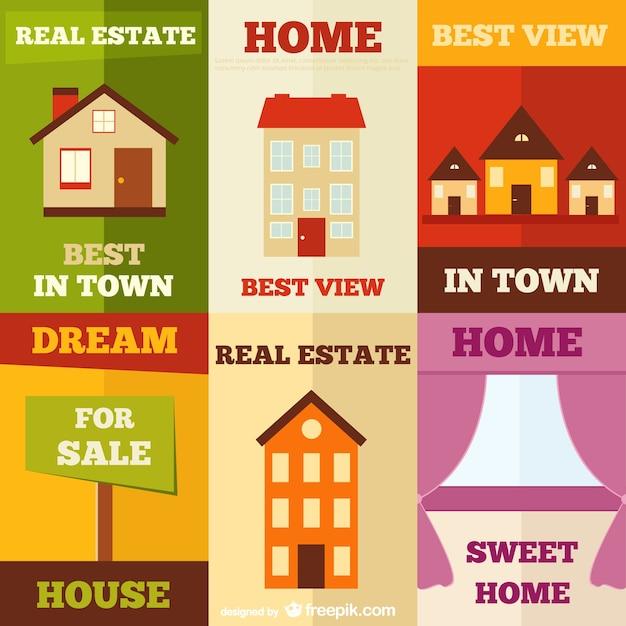 Carteles de inmobiliarias descargar vectores gratis for Short sale websites for realtors