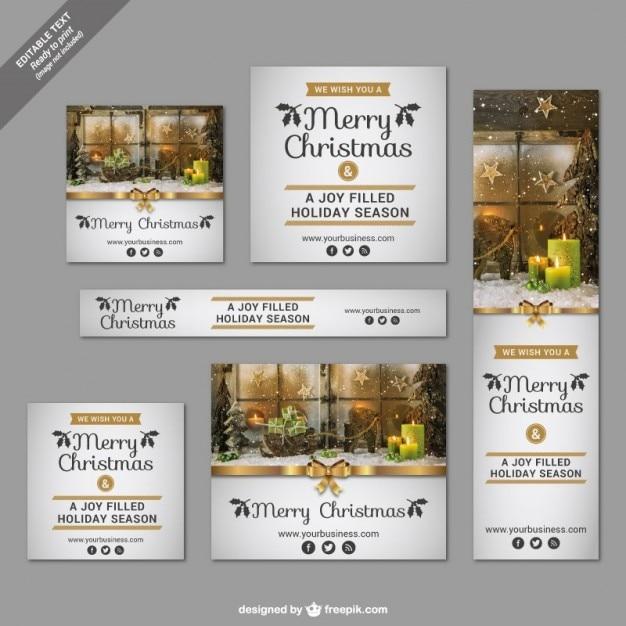 carteles de navidad para imprimir vector gratis