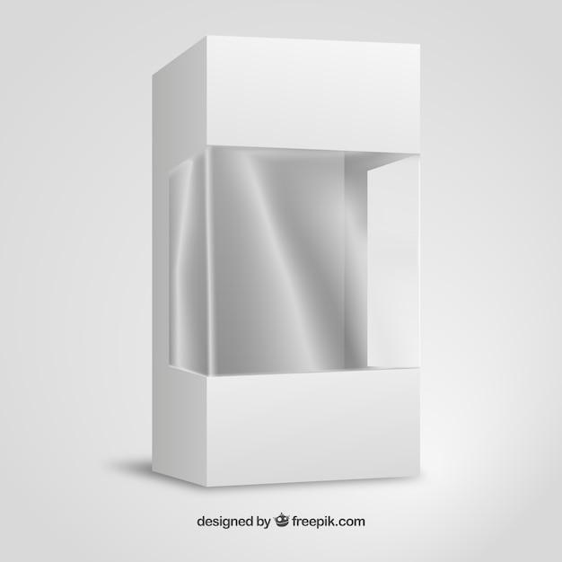 Cartón y envases de plástico maqueta vector gratuito