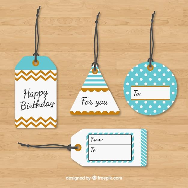 Cartón etiquetas para regalo | Descargar Vectores gratis