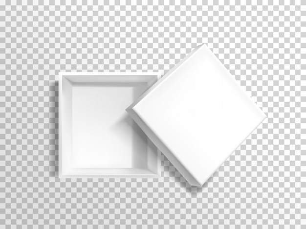 Cartón vacío o caja de plástico. vector gratuito