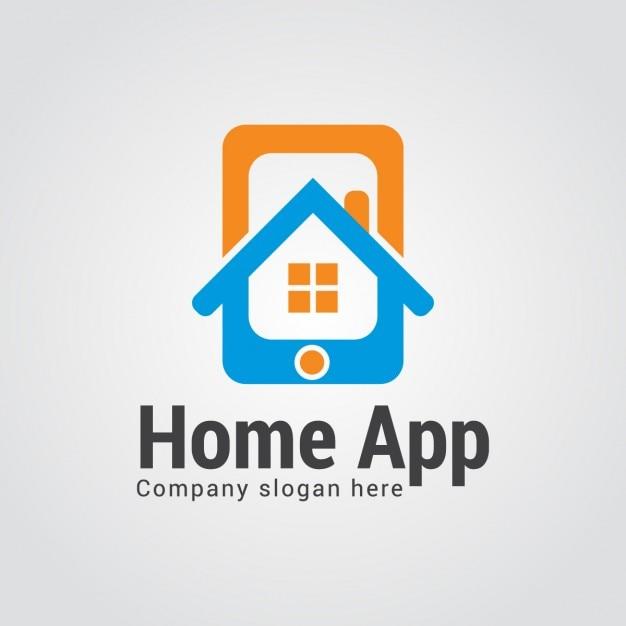 Casa app logo descargar vectores gratis for App diseno casas