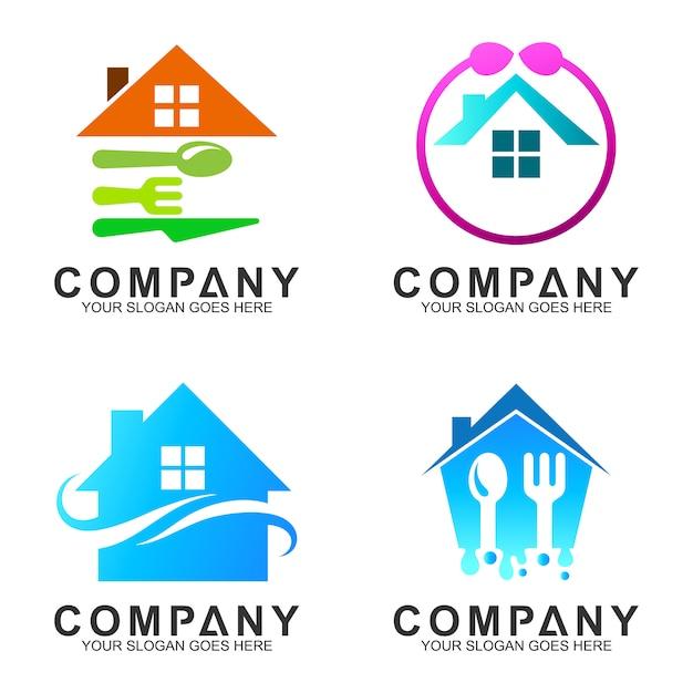 Casa Con Cuchara Tenedor Diseno De Logotipo Para Cocina